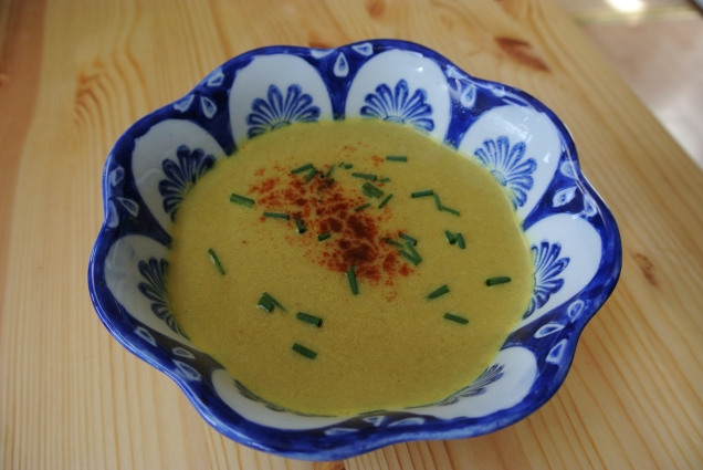 Curried cauliflower soup (bowl is new from Portugal!)