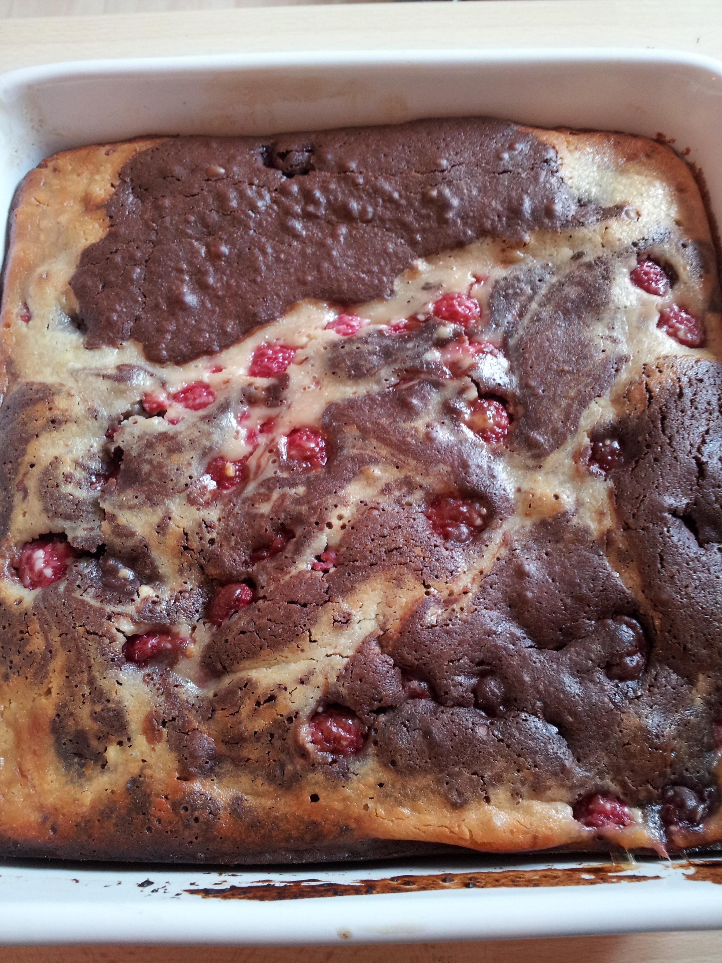 Dark Chocolate Brownies With Raspberry Goat Cheese Swirl ...