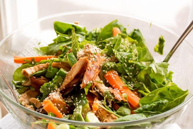 soy glazed chick salad