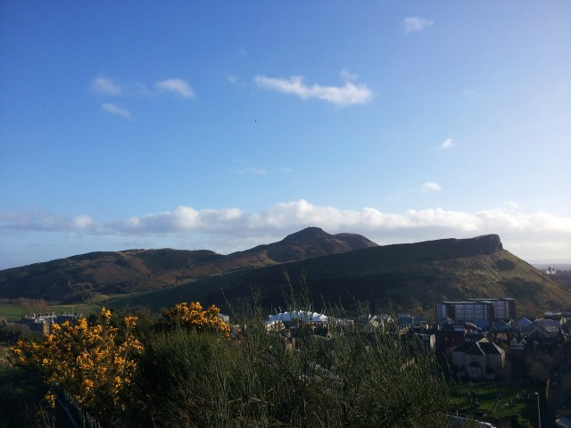 Arthur's Seat from Calton Hill, Edinburgh (early February 2014)