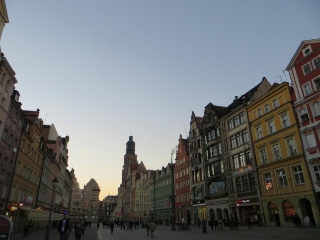 Wroclaw at dusk